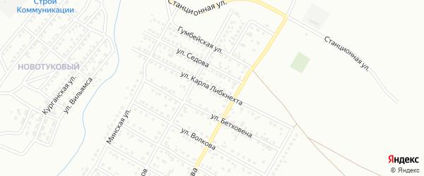Улица Карла Либкнехта на карте Магнитогорска с номерами домов