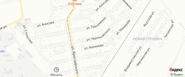 Улица Черняховского на карте Магнитогорска с номерами домов