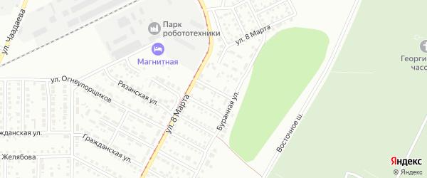 Тагильская улица на карте Магнитогорска с номерами домов