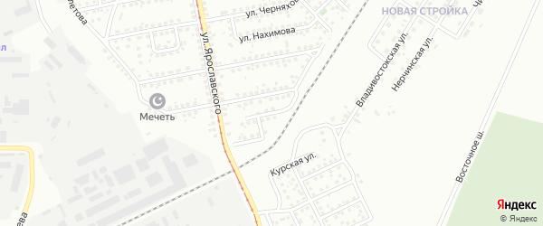 Кузбасский переулок на карте Магнитогорска с номерами домов