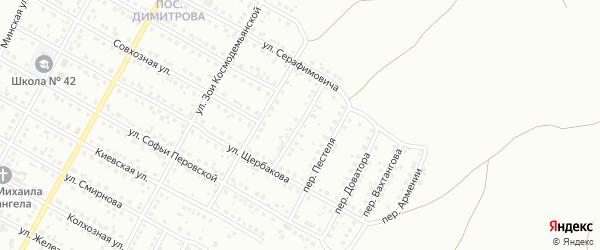 Переулок Павлика Морозова на карте Магнитогорска с номерами домов