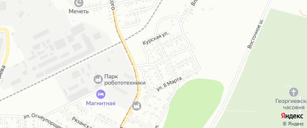 Хабаровская улица на карте Магнитогорска с номерами домов