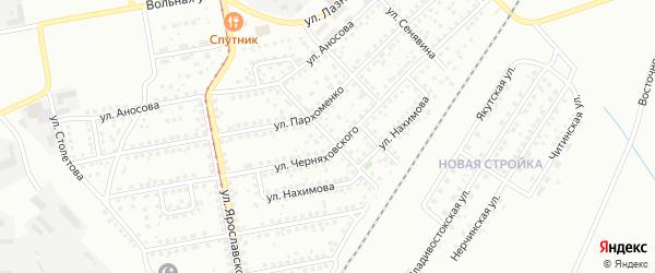 Улица Глазунова на карте Магнитогорска с номерами домов