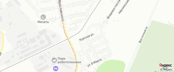 Курская улица на карте Магнитогорска с номерами домов