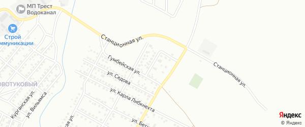 Волочаевский переулок на карте Магнитогорска с номерами домов