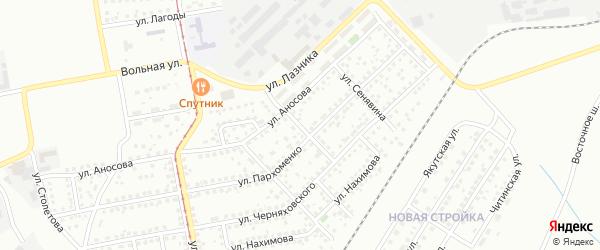 Улица Васнецова на карте Магнитогорска с номерами домов