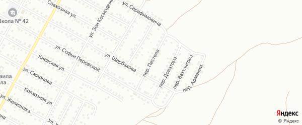 Переулок Пестеля на карте Магнитогорска с номерами домов