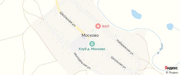 Васильковая улица на карте деревни Москово с номерами домов