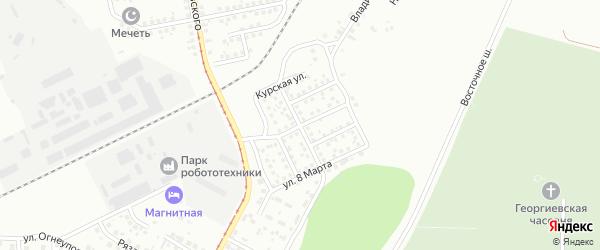 Улица Заславского на карте Магнитогорска с номерами домов