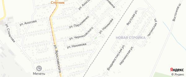 Улица Нахимова на карте Магнитогорска с номерами домов