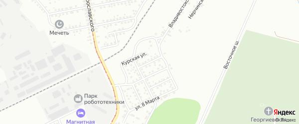 Пермская улица на карте Магнитогорска с номерами домов