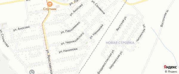 Улица Качалова на карте Магнитогорска с номерами домов
