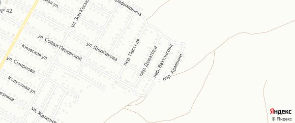 Переулок Доватора на карте Магнитогорска с номерами домов