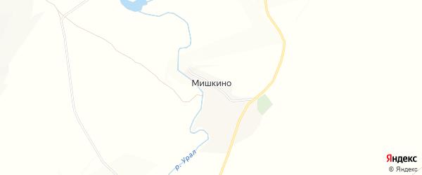 Карта деревни Мишкино в Башкортостане с улицами и номерами домов