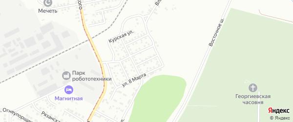 Переулок Заславского на карте Магнитогорска с номерами домов