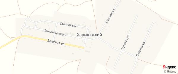 Луговая улица на карте Харьковского поселка с номерами домов