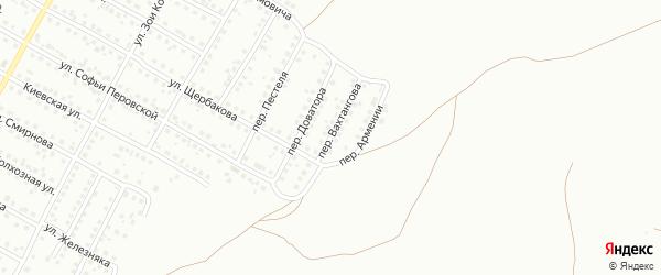 Переулок Вахтангова на карте Магнитогорска с номерами домов