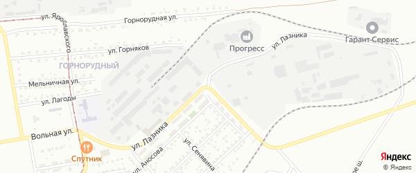 Улица Лазника на карте Магнитогорска с номерами домов