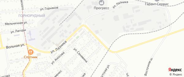 Улица Демьяна Бедного на карте Магнитогорска с номерами домов