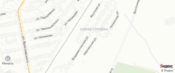 Владивостокская улица на карте Магнитогорска с номерами домов