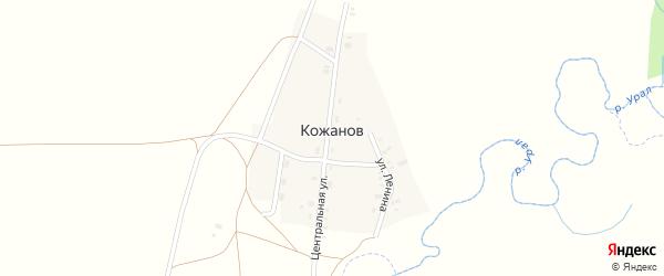 Улица Рыкова на карте поселка Кожанова с номерами домов