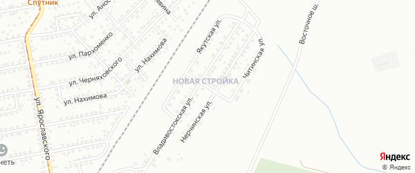 Якутская улица на карте Магнитогорска с номерами домов