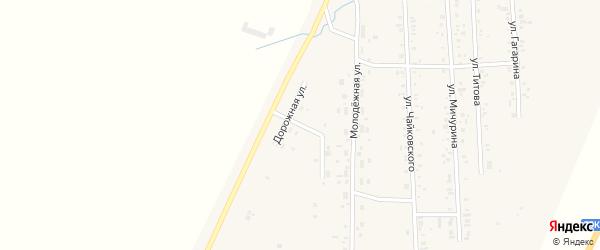 Дорожный переулок на карте Приморского поселка с номерами домов