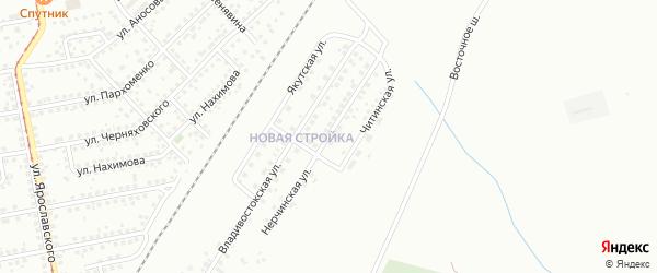 Нерчинская улица на карте Магнитогорска с номерами домов