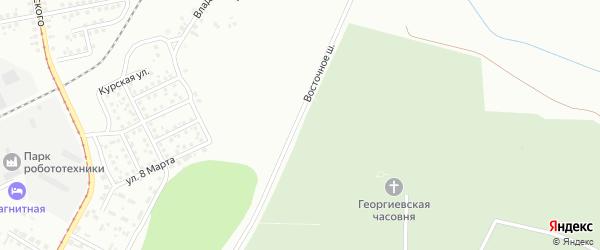 Восточное шоссе на карте Магнитогорска с номерами домов