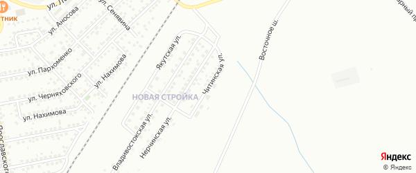Читинская улица на карте Магнитогорска с номерами домов