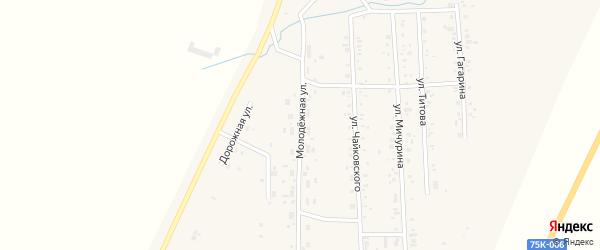 Молодежная улица на карте Приморского поселка с номерами домов