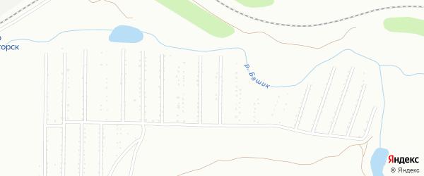 Территория ГСК Калибровщик-1 на карте Магнитогорска с номерами домов