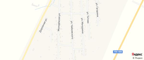 Улица Чайковского на карте Приморского поселка с номерами домов