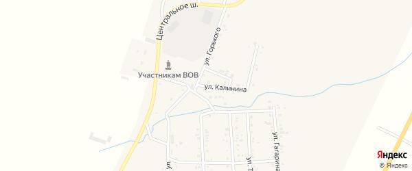 Улица Калинина на карте Приморского поселка с номерами домов