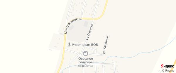 Улица Горького на карте Приморского поселка с номерами домов