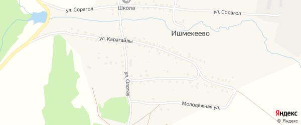 Полевая улица на карте деревни Ишмекеево с номерами домов