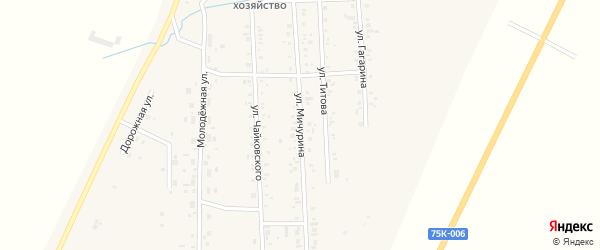 Улица Мичурина на карте Приморского поселка с номерами домов