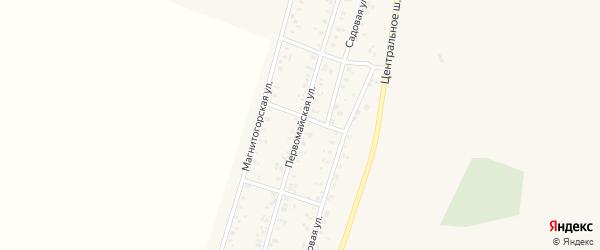 Первомайская улица на карте Приморского поселка с номерами домов