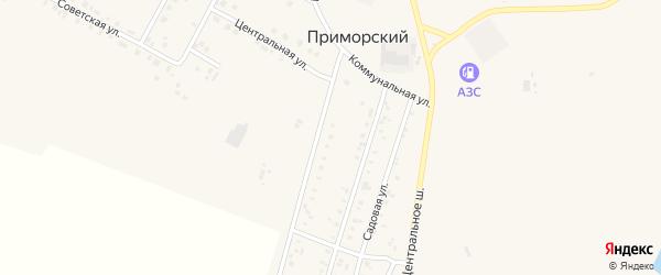 Западная улица на карте Приморского поселка с номерами домов