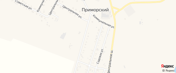 СНТ Металлург-9 на карте Приморского поселка с номерами домов