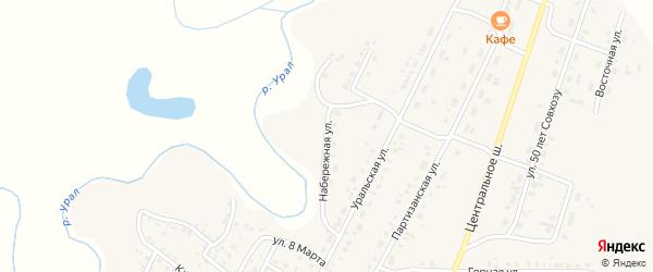 Набережная улица на карте Приморского поселка с номерами домов