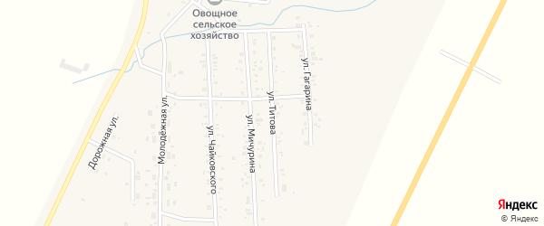 Улица Титова на карте Приморского поселка с номерами домов