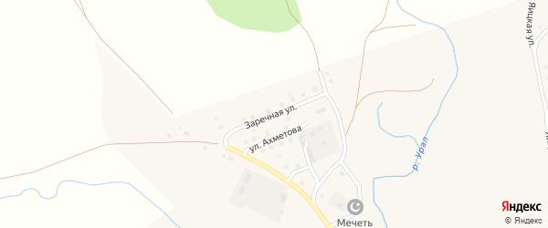 Заречная улица на карте села Уральска с номерами домов