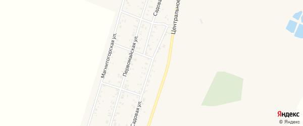 Садовая улица на карте Приморского поселка с номерами домов
