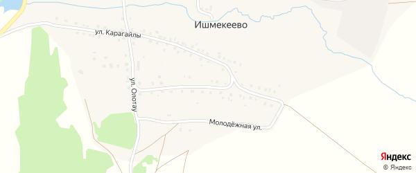 Молодежная улица на карте деревни Ишмекеево с номерами домов