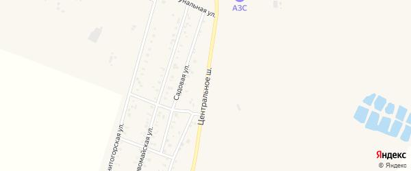 Центральное шоссе на карте Приморского поселка с номерами домов