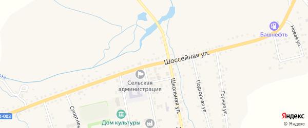 Шоссейная улица на карте села Уральска с номерами домов