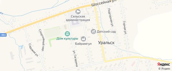 Советская улица на карте села Уральска с номерами домов