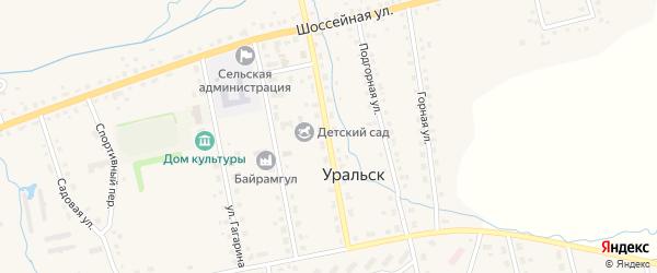 Школьная улица на карте села Уральска с номерами домов