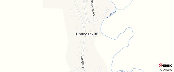 Набережная улица на карте Волковского поселка с номерами домов